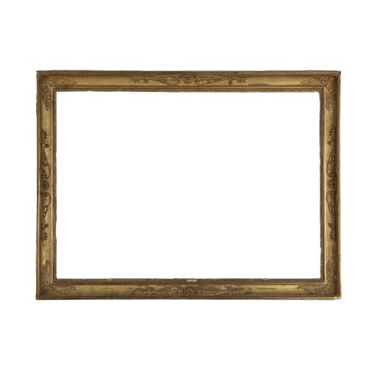 Restoration Frame, Gilded Wood, Italy 19th Century