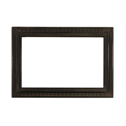 Guillochè Frame Ebonized Wood Italy 19th Century