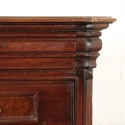 North European Chest of Drawers Cherry and Pine 19th Century