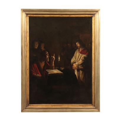 Scope Of Gerrit Van Honthorst Oil On Canvas 17th Century