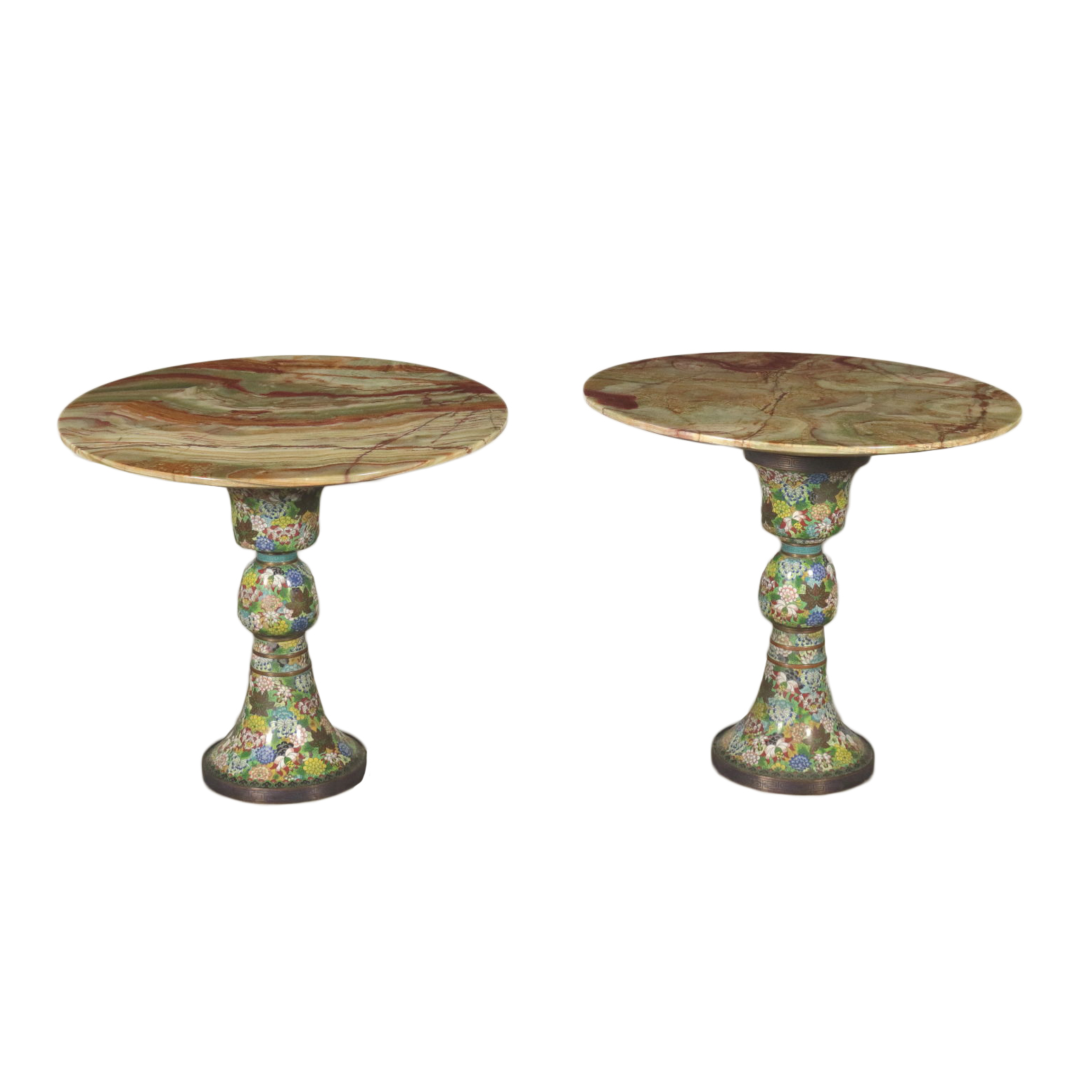 Coppia Di Tavolini In Onice Tavoli Antiquariato Noleggio Dimanoinmano It