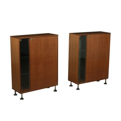 Office Furniture Tanganika Walnut Veneer Glass Italy 1960s-1970s