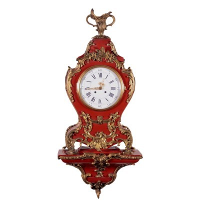 Barocchetto Revival Clock with Shelf Switzerland 20th Century
