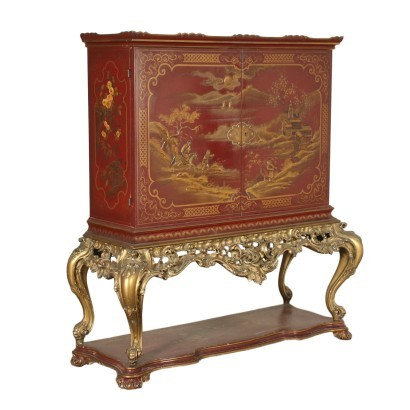 Mobile Bar in Stile Chinoiserie