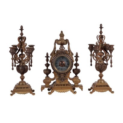 Table Clock with Candelabra