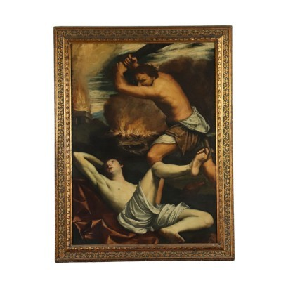 Cain And Abel Oil On Canvas 17th Century
