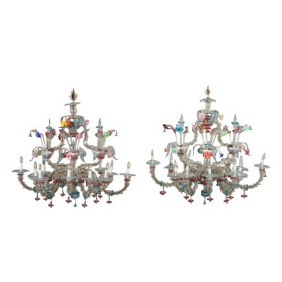 Pair of Murano chandeliers