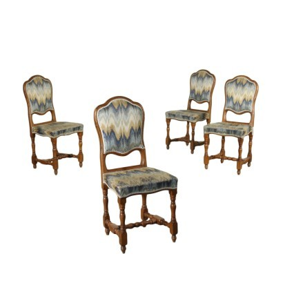 Group of Four Spool Chairs