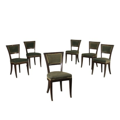 Group of Six Empire Chairs